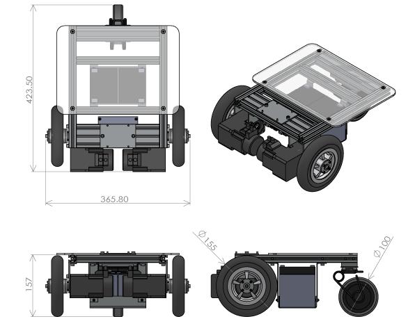 i-Cart mini 各種寸法